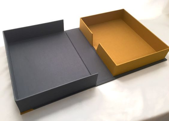 One Of A Kind Handcrafted Clamshell Box Drop Spine Box 9 1 2 Quot X 12 1 4 Quot X 3 1 4 Quot Box Packaging Design Box Packaging Packaging
