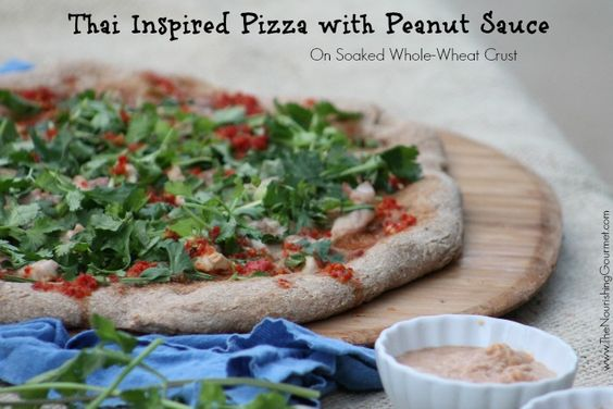 ... Crust (Dairy Free)   Recipe   Thai Pizza, Pizza and Peanut Sauce