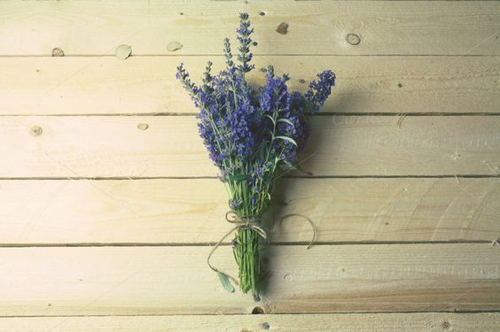Bouquet of lavender on rustic wood by SZ IMAGE on Creative Market