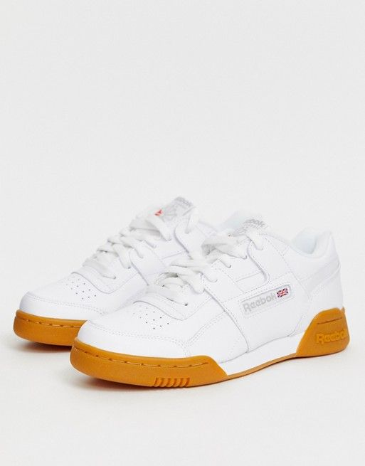 Reebok Workout trainers in white with