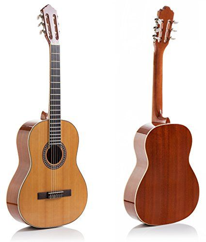 Hola! Music HG-39GLS (39 inch) Full Size Deluxe Nylon Strings Classical Guitar, Natural Gloss Finish -- Check out this great product.