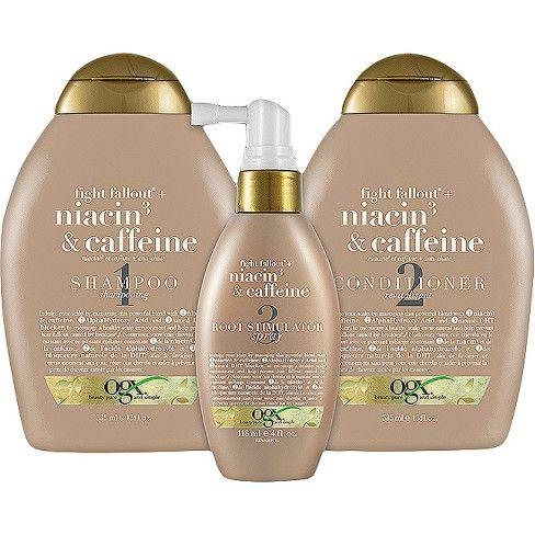 Ogx Anti Hair Fallout Niacin3 Caffeine Shampoo Target
