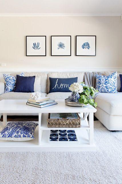 Hamptons Style Living Room, Coastal Living Room Decorating Ideas