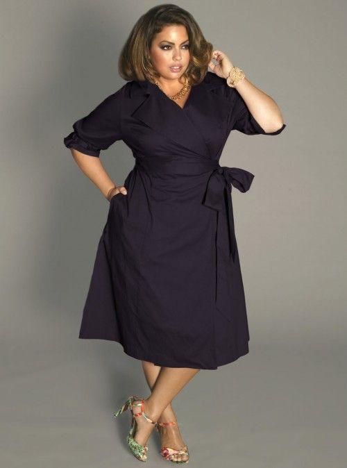 IGIGI Plus Size Boulangerie Wrap Dress in Richelieu Blue