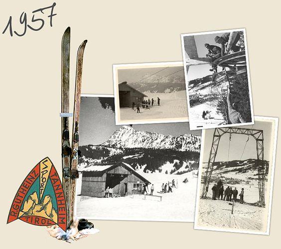 Der erste Skilift im Tannheimer Tal #Geschichte, #Winter, #Skilift - www.jungbrunn.at