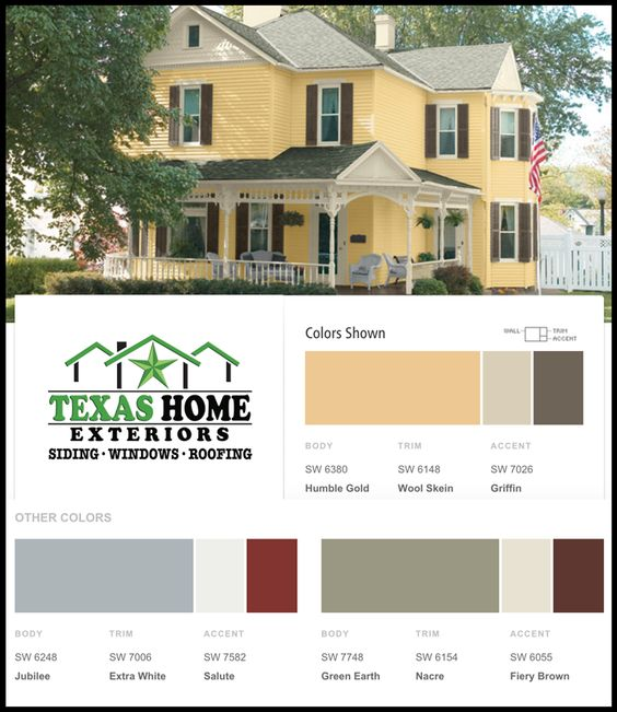 Home Paint Color ideas for homeowners for exterior paint options.