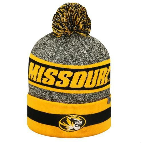 Cuffed Missouri Tigers Mizzou Knit Hat with Pom