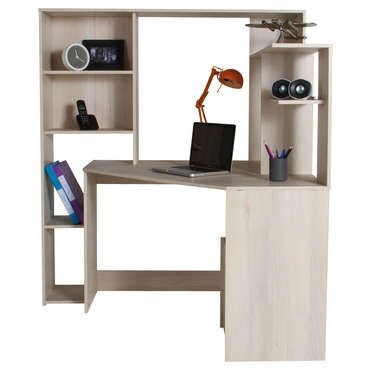 bureau d 39 angle groove coloris acacia pas cher c 39 est. Black Bedroom Furniture Sets. Home Design Ideas