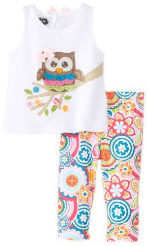 Mud Pie Baby-Girls Newborn Owl Tunic and Legging Set, Multi, 9-12 Months