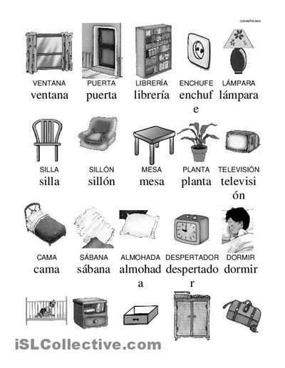 Objetos de la casa vocabulario pinterest imprimibles for Cosas del bano con b