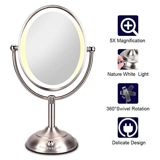 Lighted Makeup Mirror Led Makeup Mirror With Magnification 5x