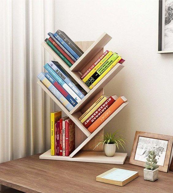 Tolland 3 Tier Shelf Display Ladder Bookcase