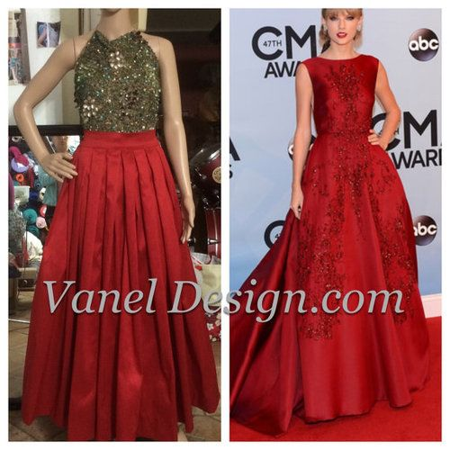 Long Red Maxi Skirt, $115.00 | Formal and Prom Dresses | Pinterest ...