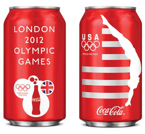 Team USA Coca-Cola cans.        Some smart packaging design for Coca-Cola's support of the US Olympic Team comes courtesy of studio Turner Duckworth…    With stripes alluding to the US flag, and also suggestive of movement, Turner Duckworth's approach is decidely minimalist in light of the more accentuated approach favoured by the London 2012 branding.        Each can features the silhouette of an athlete from the American Olympic and Paralympic teams.    1.