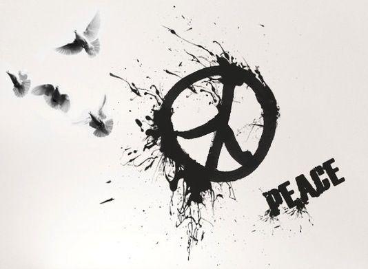 Friedenstattoos... Go Sign Clip Art