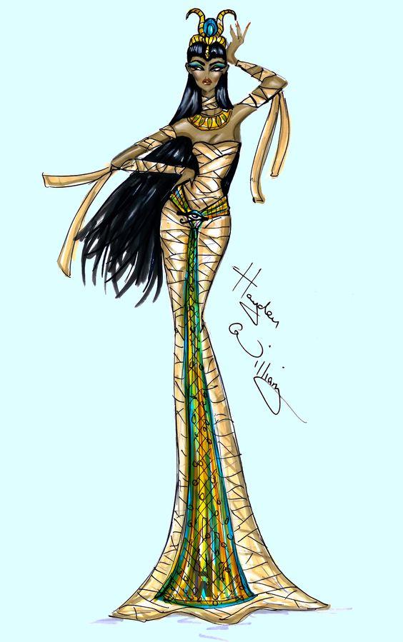 Hayden Williams Fashion Illustrations | Haunt Couture by Hayden Williams: 'Under Wraps'