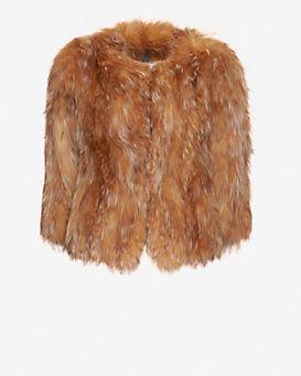 Adrienne Landau EXCLUSIVE Crystal Fox Fur Jacket