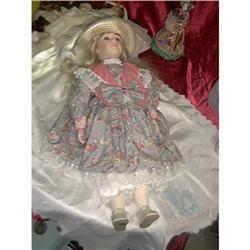 Victoria Impex Corp Porcelain Doll # 703 A #1243584