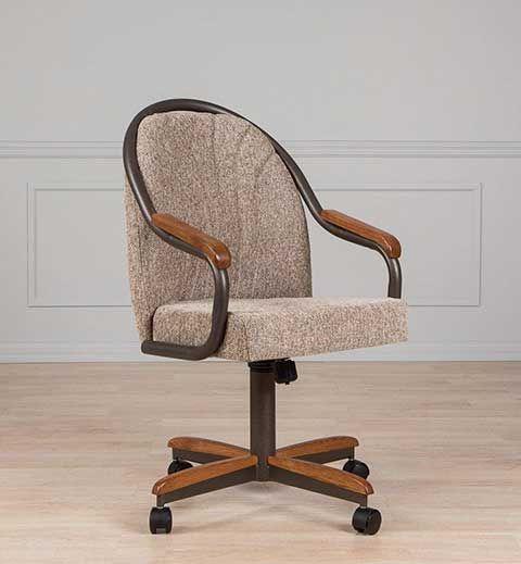 Aw Furniture Casual Dining Cushion Swivel Caster Chair Caster Chairs Furniture Dinning Room Decor