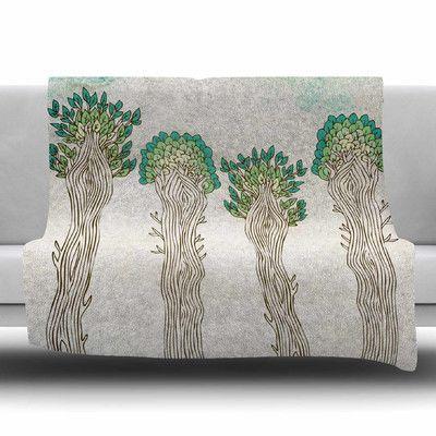 KESS InHouse Amazon Trees by Pom Graphic Design Fleece Blanket