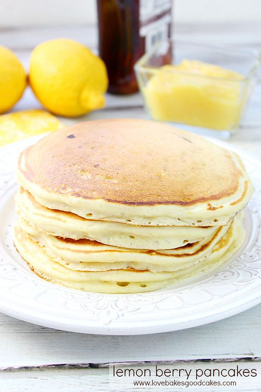 These Lemon Berry Pancakes are perfect for breakfast or dinner! Use ...