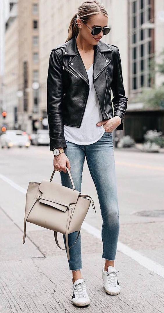 Кожаная куртка 2021 — стильные образы. Тренды. Идеи