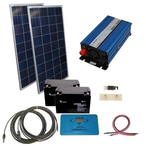 240 Watt Off Grid Solar Kit With 300 Watt Pure Sine Inverter 24 Volt Solar Energy Panels Solar Kit Solar Heating