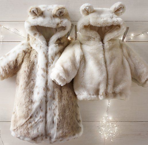 Luxe Faux Fur Bunting from RH Baby & Child