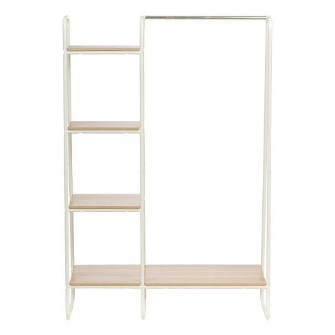 Iris Metal Garment Rack With Wood Shelves Target With Images
