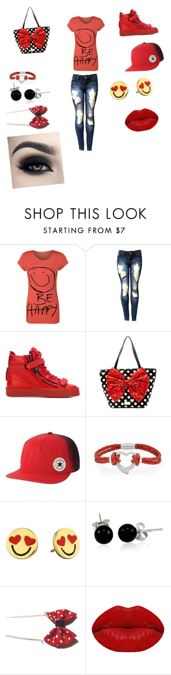 """""""stargazing w my pickle dyl"""" by vyesica-yv on Polyvore featuring WearAll, Giuseppe Zanotti, Betsey Johnson, Converse, Bling Jewelry, Kate Spade and Winky Lux"""