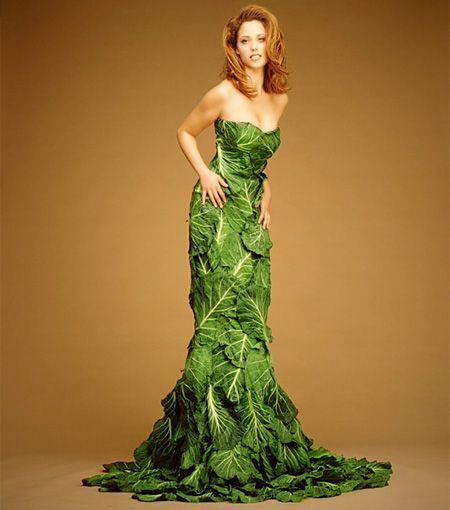 Leaf Dress for vegetarians on the go.  XD