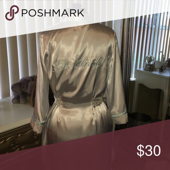 The Bride robe Brand new with tags white with blue trim and a rhinestone over the i. Linea Donatella Intimates & Sleepwear Robes