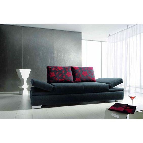 Das Schlafsofa in Anthrazit hat eine moderne Ausstrahlung und bereichert damit Ihr Wohnzimmer!