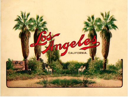 The cover to a 1904 promotional booklet with Truman's recollections of early Los Angeles.
