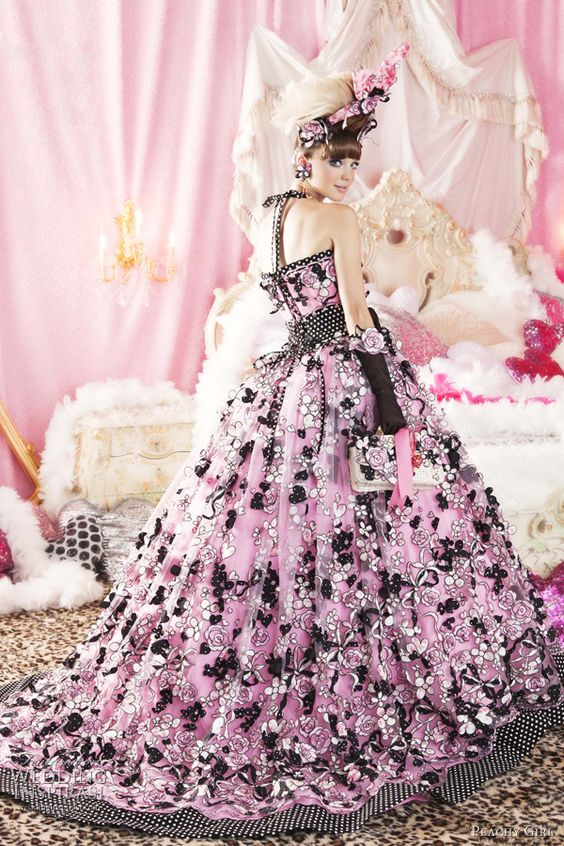 Peachy Girl Pink Wedding Dresses  Style fashion Wedding and Girls