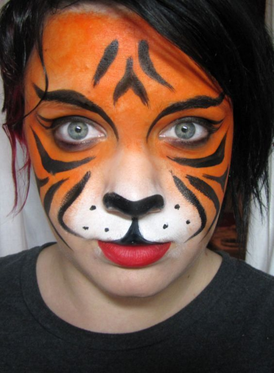 Beautiful 40 Simple Tiger Face Painting Ideas For Fun Face Fun Ideas Painting Simple Tiger Animal Face Paintings Face Painting Easy Lion Face Paint