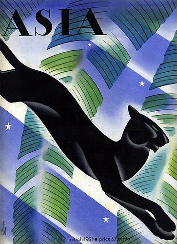 Asia Magazine-Deco Panther-1931 | Flickr