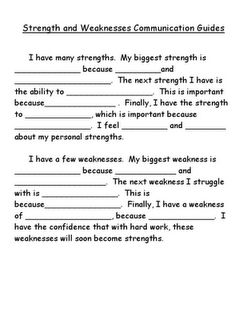 strengths and weaknesses (change to challenges!)