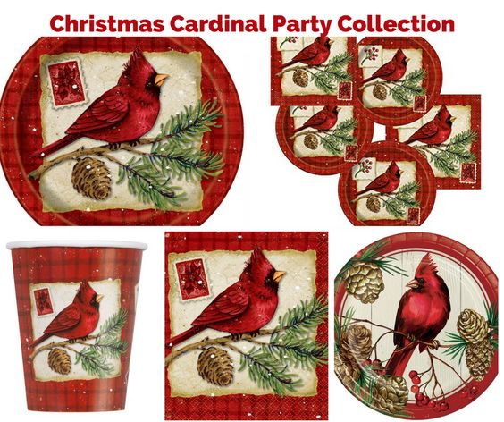 Christmas Cardinal Party Banner