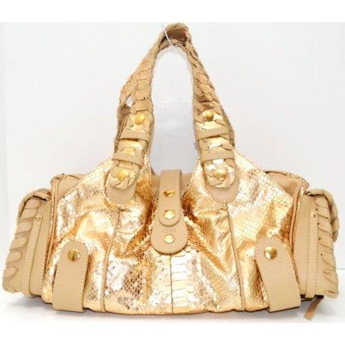 Chloe Rose Gold Python \u0026amp; Calfskin Leather Silverado Bag | Pursed ...