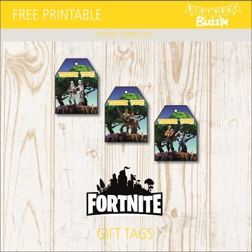 photograph regarding Free Fortnite Printable Labels known as Pin upon Birthday occasion