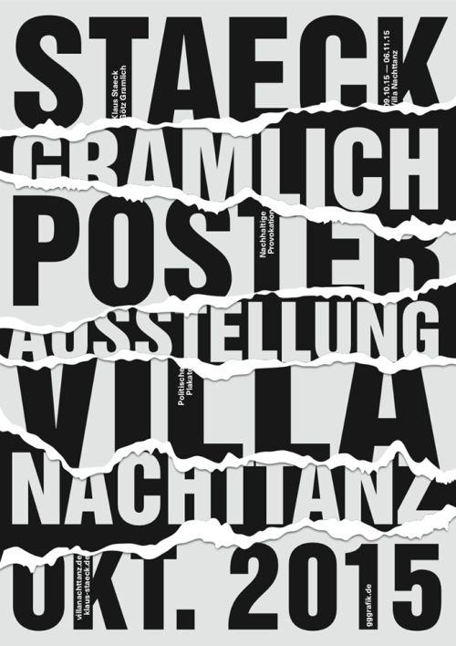 garadinervi:  Klaus StaeckandGötz Gramlich (gggrafik)poster exhibition at Villa Nachttanz,  09.10. - 10.11 2015