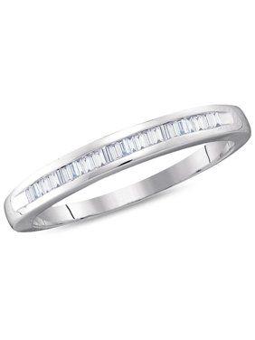 White Gold Women S Wedding Bands Walmart Com In 2020 Anniversary Rings Womens Wedding Bands Diamond Fashion Rings