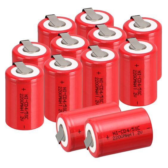 $17.94 (Buy here: http://appdeal.ru/3ye5 ) 10 PCS Ni-Cd 4/5 SubC Sub C battery Rechargeable Battery 1.2V 2200mAh with Tab 3.3cm x 2.2cm for just $17.94