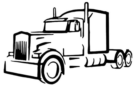 Truck driver semi truck vinyl decal outline decal custom ...