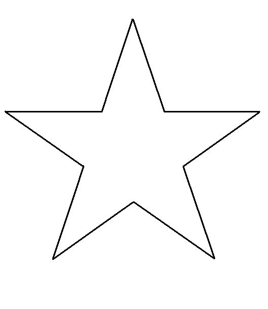 Free print shape star template thegluegungirl how to for How to cut a perfect star