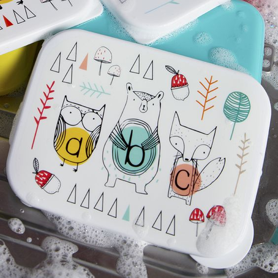 https://www.sassandbelle.co.uk/Alphabet Animals Rectangular Lunch Box