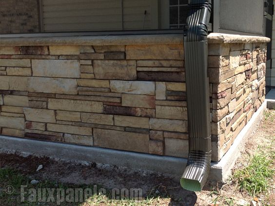 Ledgestone plum creek versette home design pictures for Exterior ledgestone