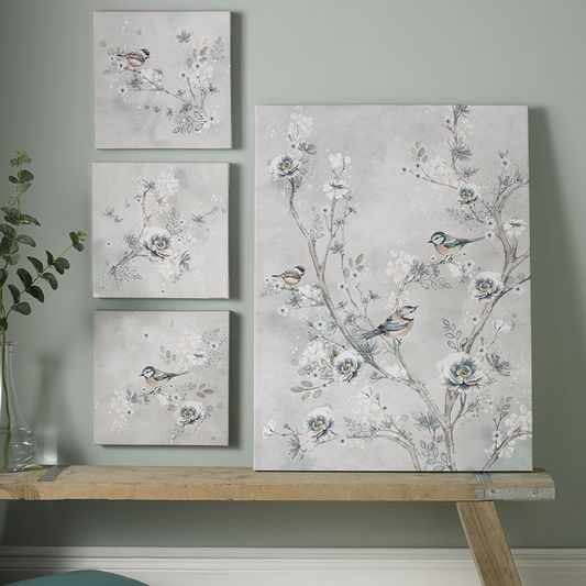 Beautiful Birds Trio Printed Canvas Wall Art Beautiful Birds Bird Prints Canvas Wall Art