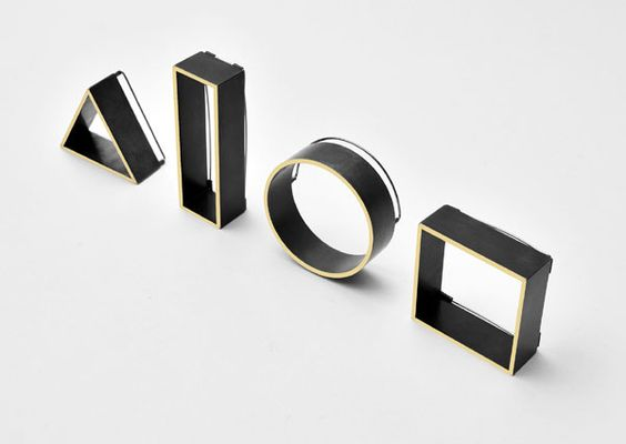 Sheng Zhang, Birmingham School of Jewellery - 'Inside Out' – brooches in oxidised gilding metal